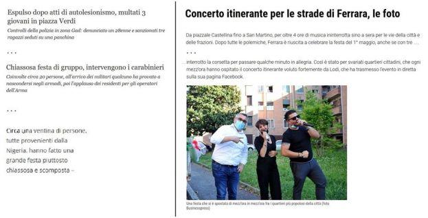 Regole della fase 2 a Ferrara, ma non valide per tutti