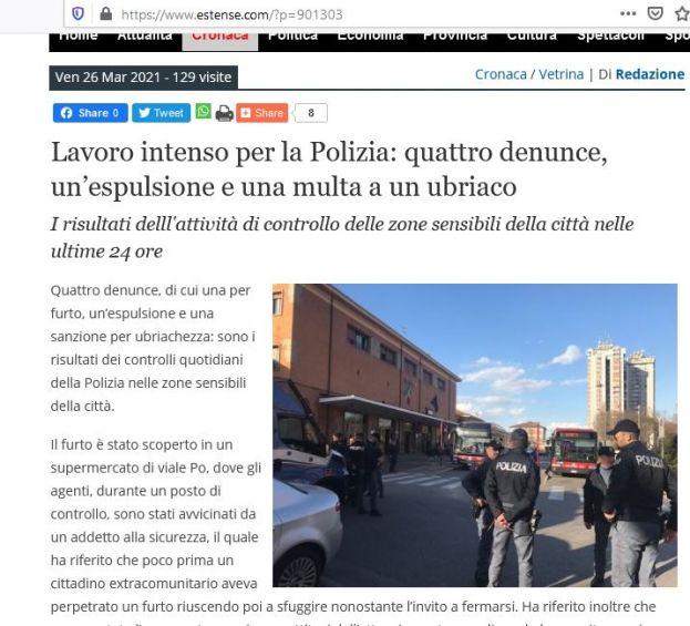 Ferrara: i fatti di cronaca di oggi